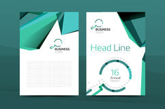 Geometric a4 front page, business annual report print template. Correspondence letter with corporate identity design Royalty Free Stock Photos