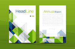 Geometric a4 front page, business annual report print template. Correspondence letter with corporate identity design Stock Image