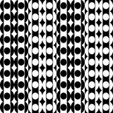 Geometric fun pattern with columns of black and white decorations Stock Image