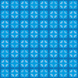 Geometric fun pattern with dark and light blue circular and rhomboid shapes Royalty Free Stock Image