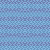 Geometric fun pattern with dark and light blue shapes Stock Photos