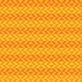 Geometric fun pattern with dark and light orange shapes Stock Images