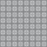 Geometric fun pattern with dark and light pearl grey circular and rhomboid shapes Stock Image