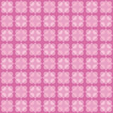 Geometric fun pattern with dark and light pink and violet circular and rhomboid shapes Royalty Free Stock Photography