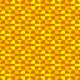Geometric fun pattern with orange and yellow circles Stock Photography