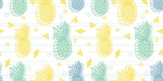 Free Geometric Fun Pineapples Vector Pattern. Stock Photography - 134250882