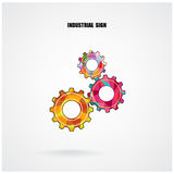 Geometric Gears Infographics Number Options Banner background Royalty Free Stock Image