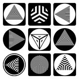 Abstract geometric design elements. Geometric gesign elements. Circle, triangle and square shapes. Abstract icons set. Vector art Vector Illustration