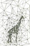 Geometric giraffe Stock Images