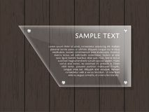 Geometric glass plate with space for text Royalty Free Stock Photo