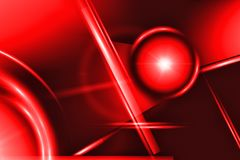 Geometric glowing shapes on a red background. Futuristic backdrop. Close-up royalty free illustration
