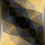 Geometric gold and black vector background Royalty Free Stock Photo