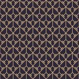 Geometric gold luxury pattern Royalty Free Stock Photo