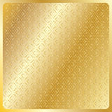 Geometric gold royal pattern 2019. Gold geometric royal pattern with gold squares on golden background with gold polka dots. Gold texture pattern. Vector file Royalty Free Stock Images