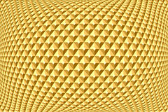 Geometric golden pattern. Textured background. Royalty Free Stock Photo