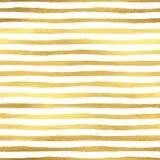 Geometric golden stripes seamless pattern Royalty Free Stock Photo