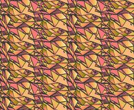 Geometric gradient  hand draw ink patterns . Colorful abstract mosaic backgrounds. Vector illustration  in shades of pink and gree Stock Image