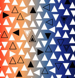 Geometric gradient seamless pattern with triangles Royalty Free Stock Images