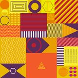 Geometric graphic abstract background design shape multicolor retro style Royalty Free Stock Photos