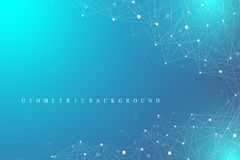 Free Geometric Graphic Background Molecule And Communication. Big Data Complex With Compounds. Perspective Backdrop. Minimal Stock Photo - 80804330