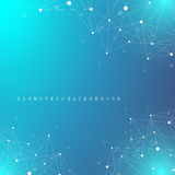 Geometric graphic background molecule and communication. Big data complex with compounds. Perspective backdrop. Minimal. Array Big data. Digital data Royalty Free Stock Images