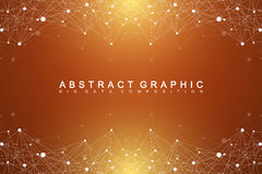 Geometric graphic background molecule and communication. Big data complex with compounds. Perspective backdrop. Minimal Stock Images