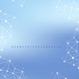 Geometric graphic background molecule and communication. Big data complex  Stock Photography