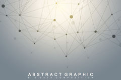 Geometric graphic background molecule and communication. Big data complex Royalty Free Stock Photos