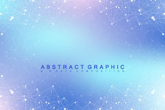 Geometric graphic background molecule and communication. Big data complex with compounds. Perspective backdrop. Minimal Stock Photo