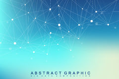 Geometric graphic background molecule and communication. Big data complex with compounds. Perspective backdrop. Minimal Stock Image