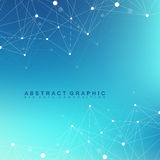 Geometric graphic background molecule and communication. Big data complex with compounds. Perspective backdrop. Minimal Royalty Free Stock Images