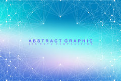 Geometric graphic background molecule and communication. Big data complex with compounds. Perspective backdrop. Minimal Royalty Free Stock Photo
