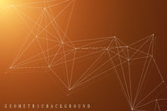 Geometric graphic background molecule and communication. Big data complex with compounds. Perspective backdrop. Minimal Royalty Free Stock Photos