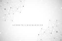 Geometric graphic background molecule and communication. Big data complex with compounds. Perspective backdrop. Minimal. Array. Digital data visualization Royalty Free Stock Image