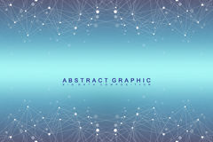 Geometric graphic background molecule and communication. Big data complex with compounds. Perspective backdrop. Minimal Royalty Free Stock Photography