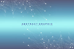 Geometric graphic background molecule and communication. Big data complex with compounds. Perspective backdrop. Minimal Stock Photos