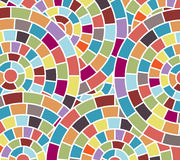 Geometric graphic circles. Geometric background color wheels mosaic pattern full curcle in back in vector format royalty free illustration