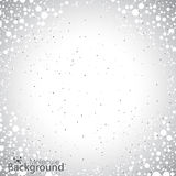 Geometric gray background molecule and communication for your design. Vector illustration Royalty Free Stock Image