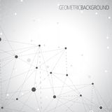 Geometric gray background Molecule and Royalty Free Stock Photos
