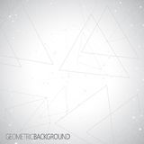 Geometric gray background Molecule and communication for your design and your text Stock Photo