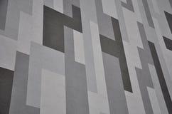 Geometric gray facade Stock Photo