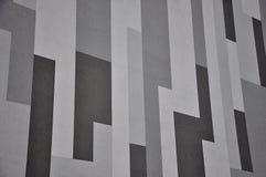 Geometric gray facade Royalty Free Stock Photography