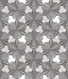 Geometric gray stripy overlay seamless pattern, bright vector ab Stock Photography