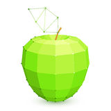 Geometric Green Apple Royalty Free Stock Images