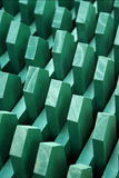 Geometric green background Stock Photography