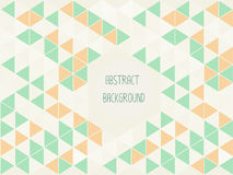 Geometric  green and orange abstract background vintage colors Stock Image