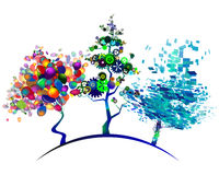 Geometric green 5.0. Geometric green tree, styling, logo Royalty Free Stock Photography