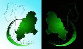 Geometric green 10.0. Geometric green tree, styling, logo Stock Photos