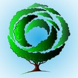 Geometric green tree. Stylized, geometric green tree collection Royalty Free Stock Image