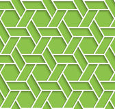 Geometric green and white background with outline extrude effect Stock Image